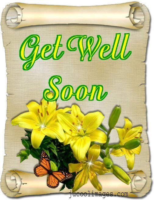 Free Orkut and My Space get well soon Graphics Glitters